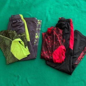 2sets of boys pants and matching shirts